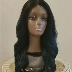 Emerald Green & Black Ombré Lace front wig